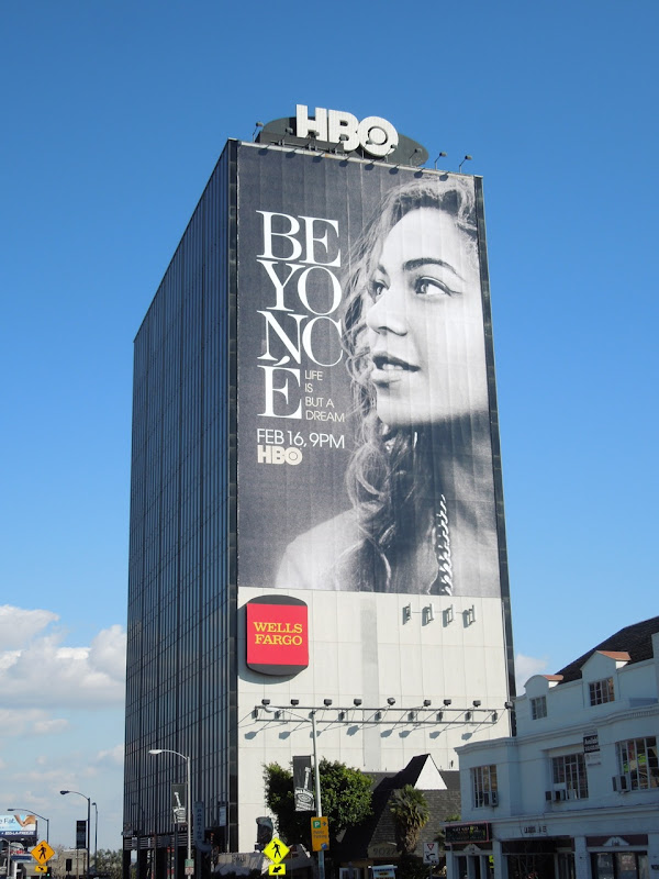 Giant Beyonce Life is but a Dream billboard