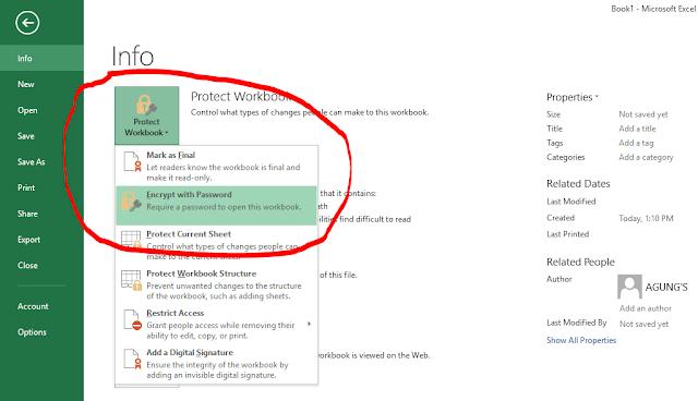 Cara kunci File Excel