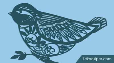 Tutorial Cara Membuat Karya Seni Paper Cutting Berbentuk Burung