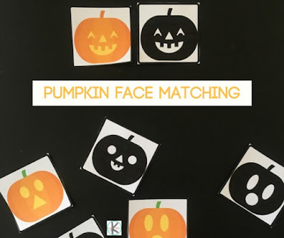 picture regarding Printable Pumpkin Face referred to as No cost Pumpkin Faces Matching Sport Kindergarten Worksheets
