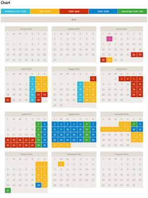 Calendario Miragica 2016