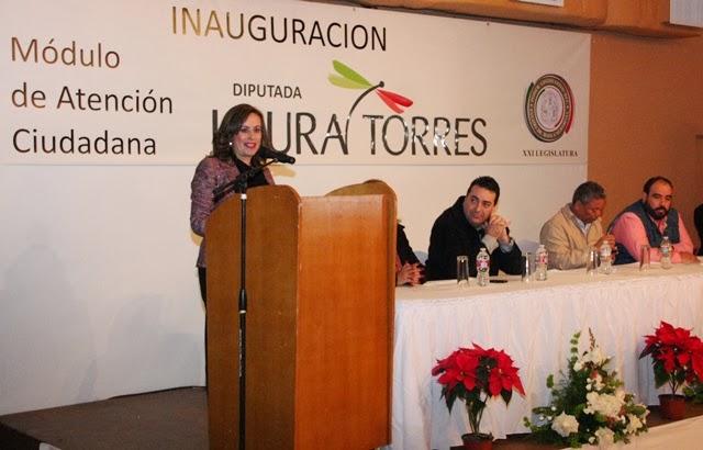 Inaugura Diputada Laura Torres Módulo De Atención Ciudadana