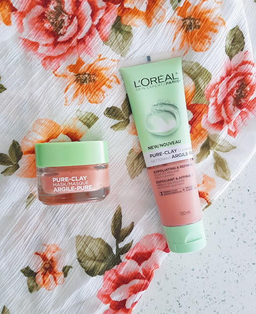 L'Oreal's Pure Clay Mask and Cleanser | Skincare Review by Plaid and Sugar