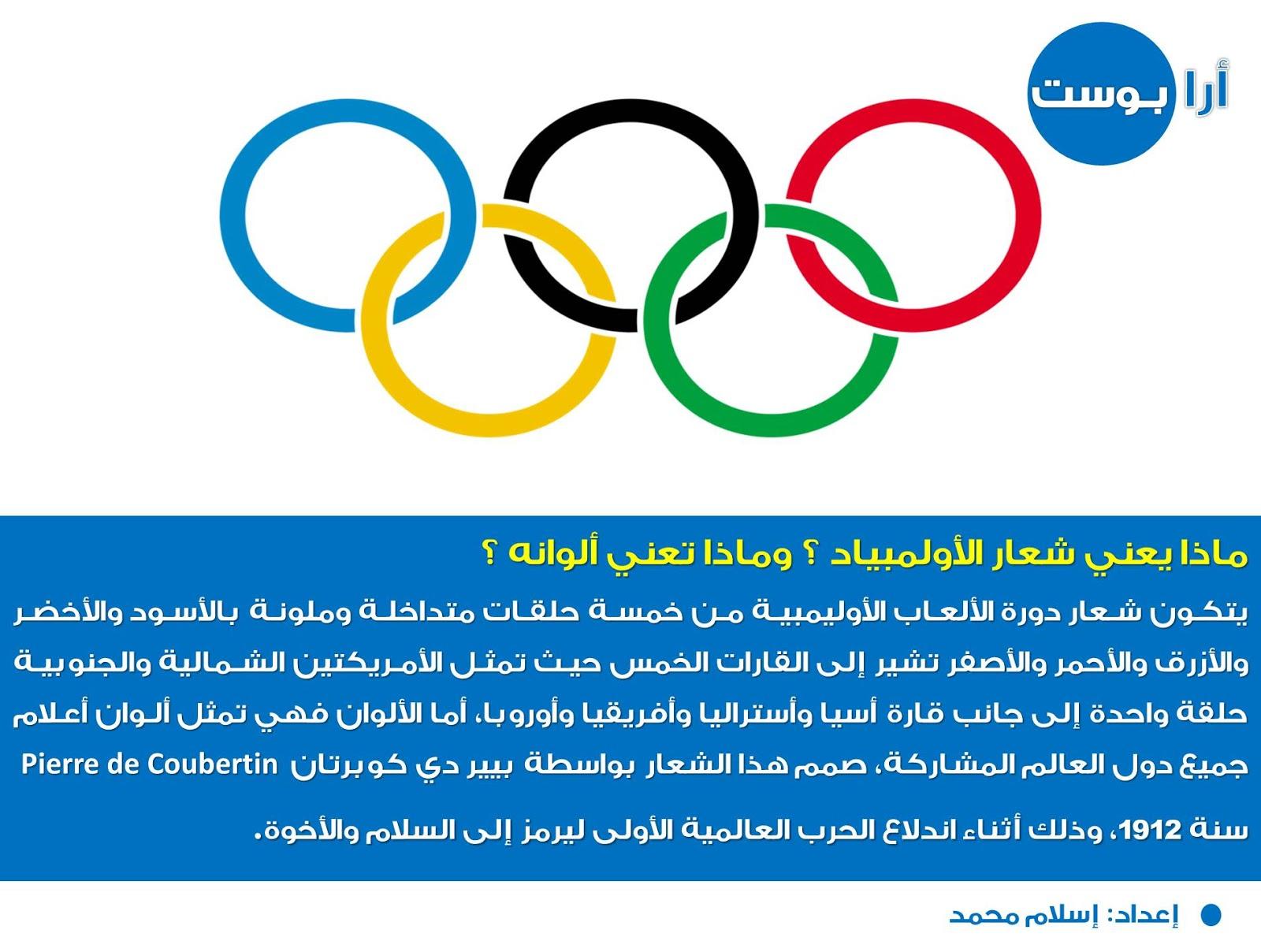 ماذا يعني شعار الأولمبياد ؟ وماذا تعني ألوانه ؟