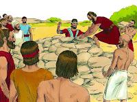 После натрупаха върху него голяма грамада от камъни