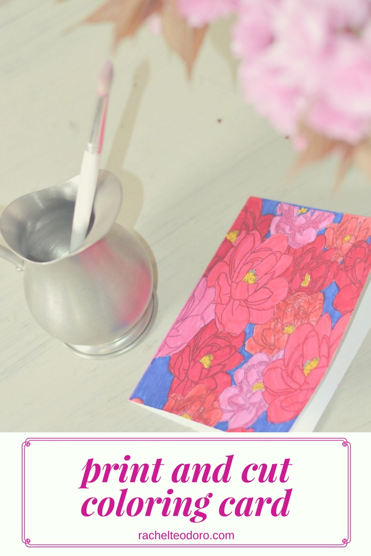 mother u0027s day card to print cut and color rachel teodoro