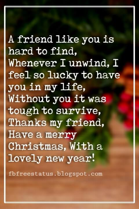 Christmas Messages For Friends Cards