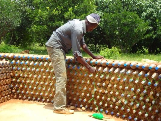 House Construction with Plastic Bottles