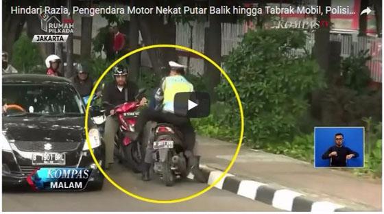 Video Lucu! Cowok Ini Nangis-Nangis Ditilang Polisi Saat Operasi Zebra