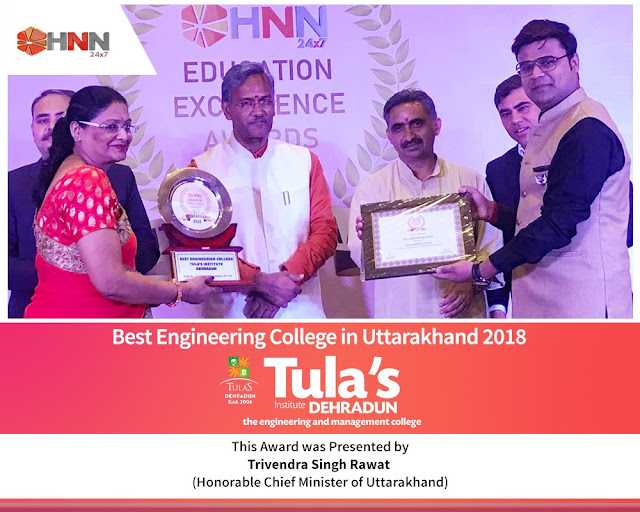Tula's Group gets awarded twice at the HNN 24*7 Education Excellence Awards 2018
