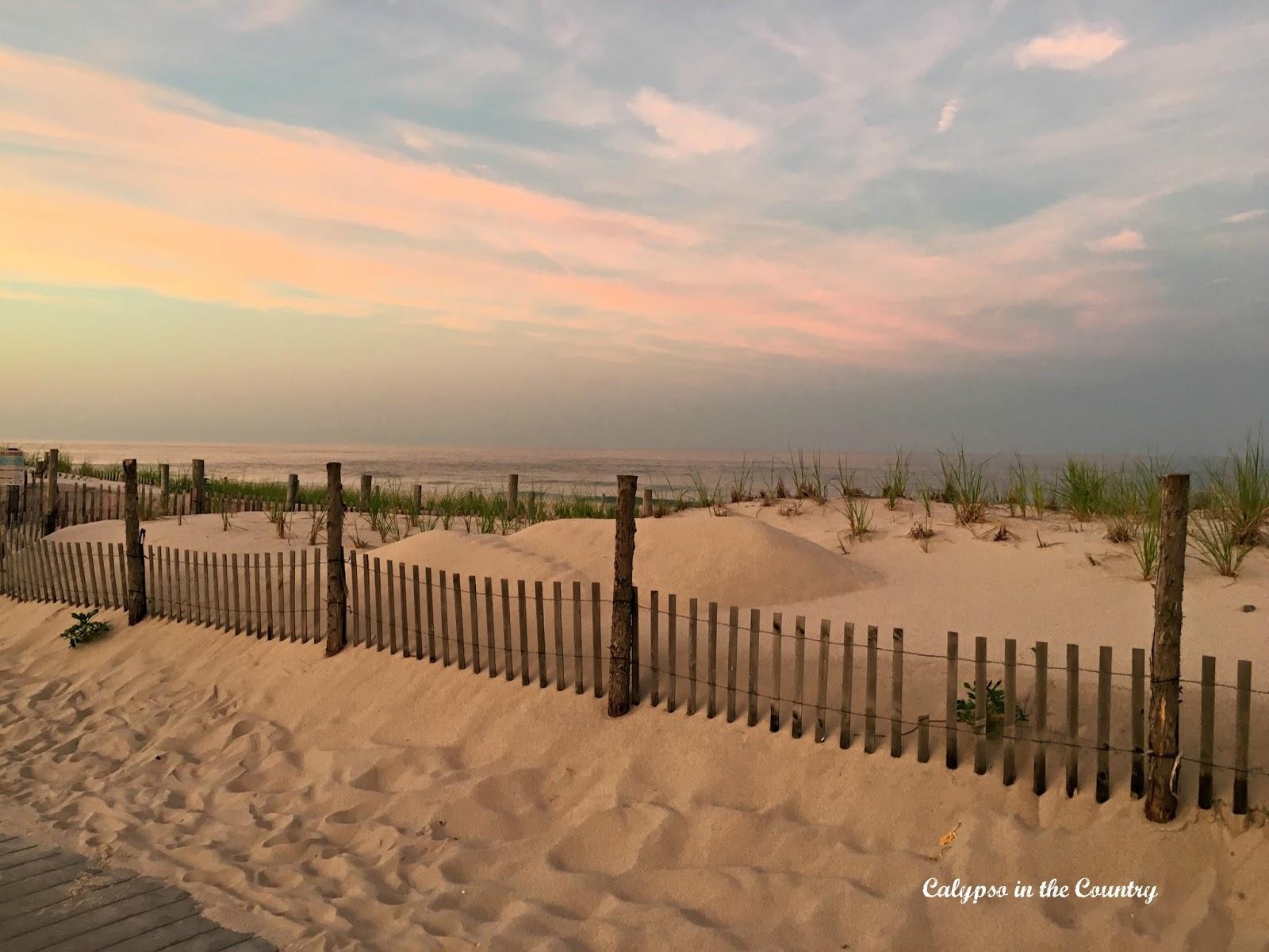 Jersey Shore Sunset on the beach