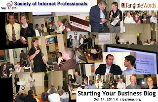 Starting Your Business Blog workshop, photos by Olga Goubar