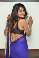 Actress Priya in Blue Saree and Sleevelss Choli at Javed Habib Salon launch ~  Exclusive Galleries 020.jpg