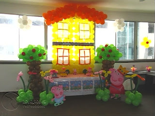DECORACION PEPPA PIG RECREACIONISTAS MEDELLIN 6