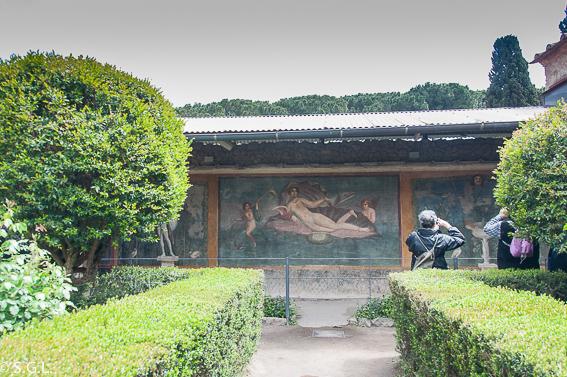 Casa venus concha Pompeya, ruinas ciudad romana