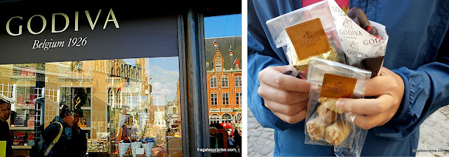 Loja dos Chocolates Godiva em Bruges, Bélgica