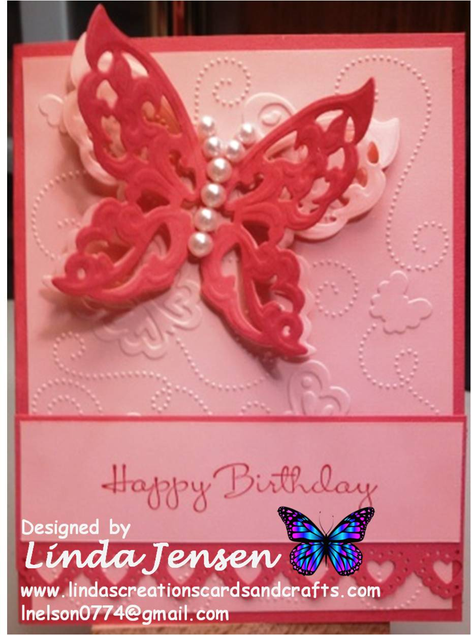Birthday 8 Flutter Tree Die Cuts Butterfly Any Colour//Card Spellbinders