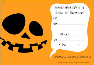 Invitación Halloween calabaza en color 10x7 cm  | Color Pumpkin Halloween Party Card color by Eva barceló