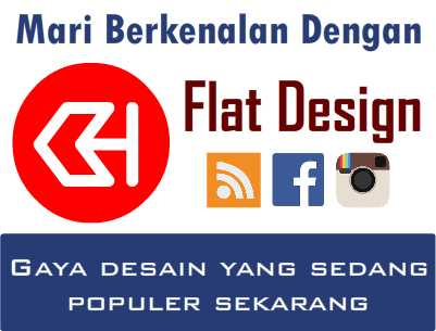 flat design populer