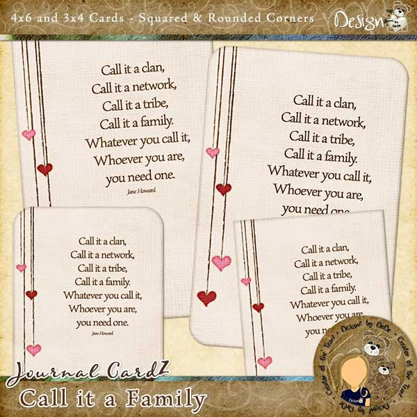 Call it a Family Journal CardZ by DeDe Smith (DesignZ by DeDe)