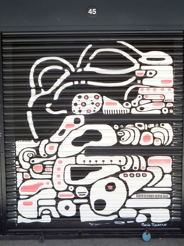 barcelone espagne mercat abaceria central marché street art