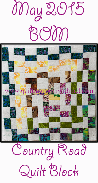 country road quilt block
