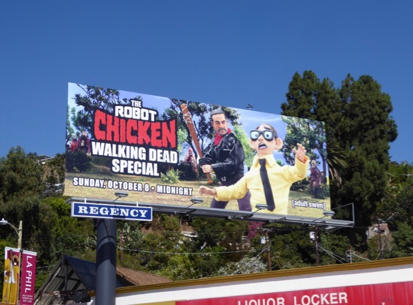 Robot Chicken Walking Dead billboard