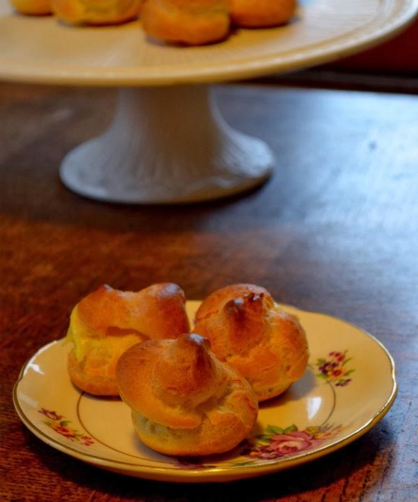 homemade soesjes met crème pâtissière
