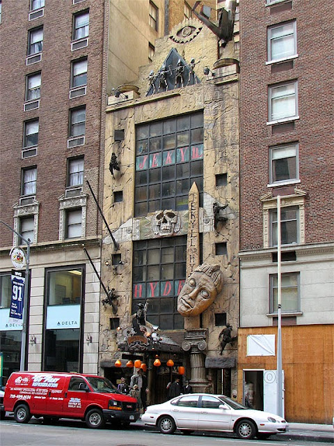 Facade of the former Jekyll & Hyde Club, Sixth Avenue at 57th Street, New York