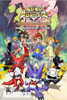 Digimon Adventure SS7 - Digimon Xros Wars: Toki Wo Kakeru Shounen Hunter-tachi 2012 Poster