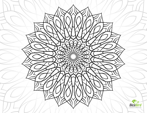 Secret Mandala Flower Free Coloring Sheets For Adults