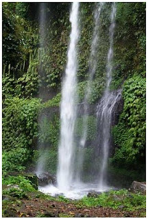Sendang Gile Waterfalls, Senaru, Rinjani, Lombok