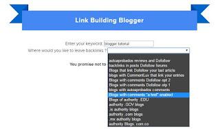 contoh mencari backlink