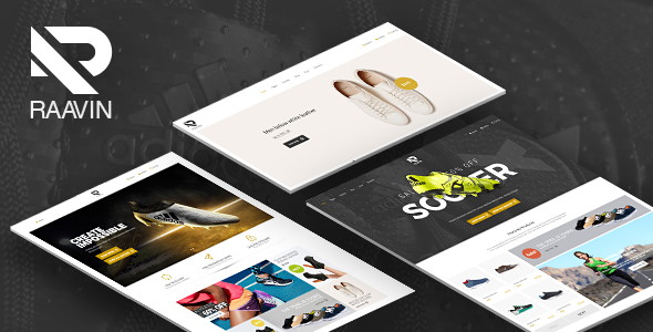 Raavin - Responsive WooCommerce Sport Shoes WordPress Theme