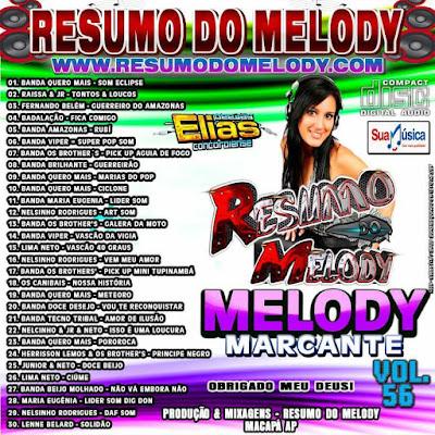 CD RESUMO DO MELODY VOL.56 MARCANTE