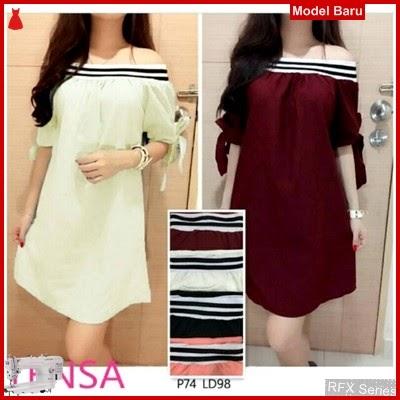 RFX020 MODEL DRESS SABRINA TWISCONE KOMBI SPANDEK HALUS FIT MURAH ONLINE