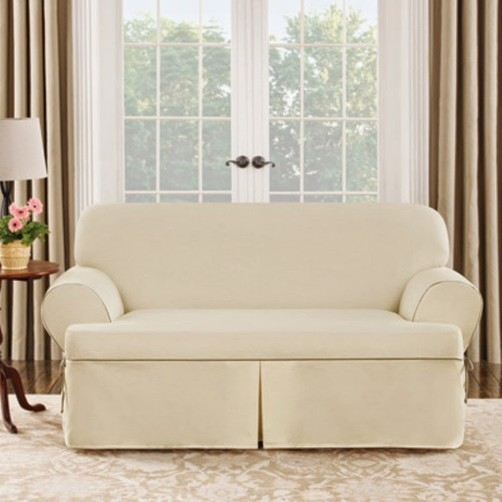 Sure Fit Cotton Duck Sofa Slipcover Contemporary Set Cheap Recliner Sofas For Sale: Dual Reclining ...