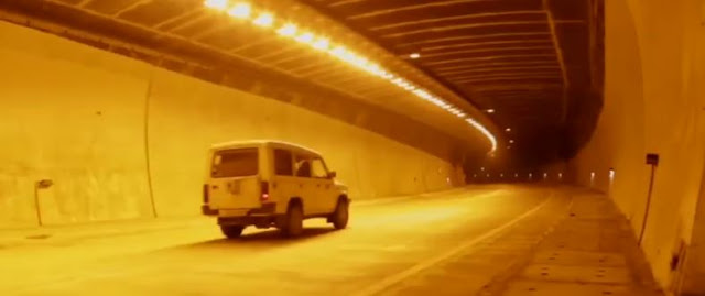 inside view of chenani nashri tunnel J&K India