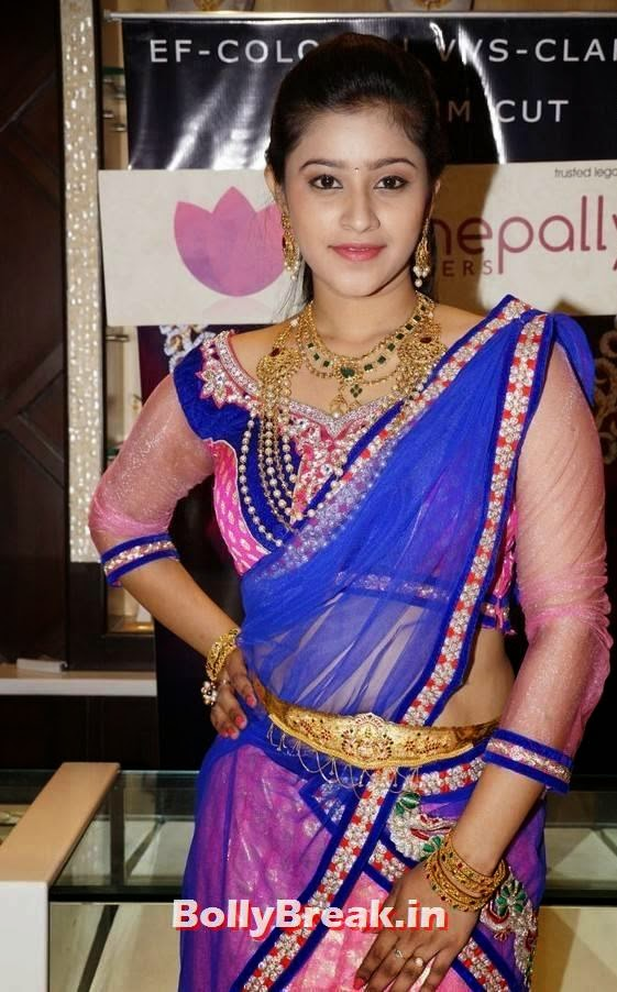 , Tamil Actress Priyanka Photos in Saree & Gold Jewellery