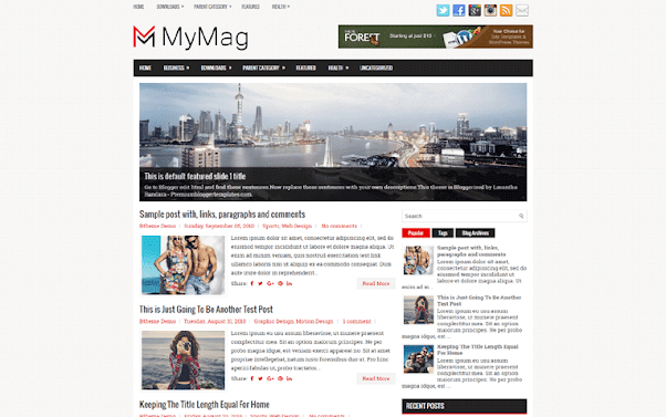 MyMag Free Blogger Template