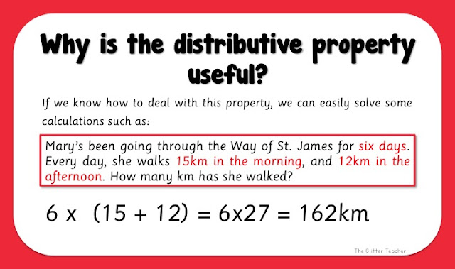 Why is the distributive property useful?