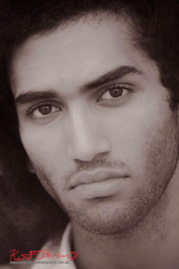 Headshot, black and white - Male Model portfolio photography by Kent Johnson