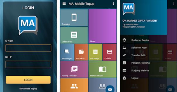 MA Mobile Topup Aplikasi Android market Pulsa