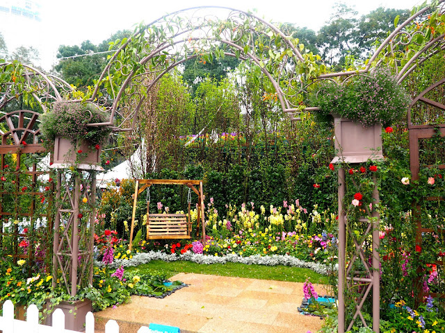 Garden display at Hong Kong Flower Festival 2017