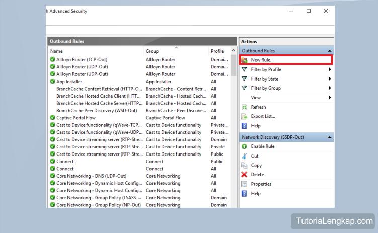 tutorial lengkap Cara Blokir Akses Internet Aplikasi Tertentu Pada Semua Versi Windows, cara agar aplikasi tidak dapat mengakses internet namun masih bisa internetan, tips windows untuk memblokir aplikasi, how to block internet acess on windows 7, windows 8, windows 10
