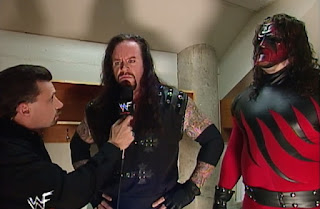 WWF - Breakdown 1998: In Your House 24 - Michael Cole interviews The Undertaker & Kane