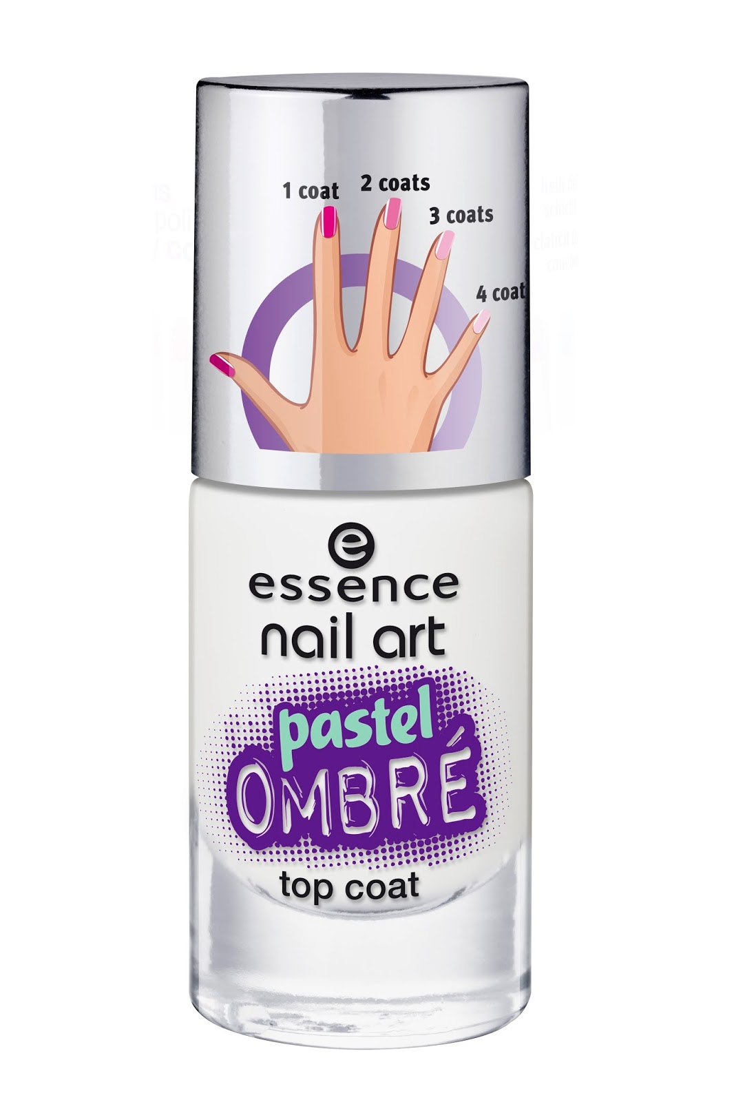 Eessence nail art pastel ombré top coat
