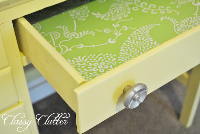 Yellow Sewing Desk Makeover Classy Clutter