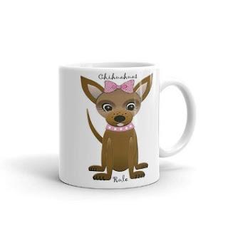 designer chihuahua coffee mug