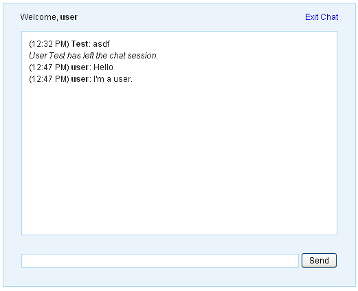 Web Based Chat Room Application